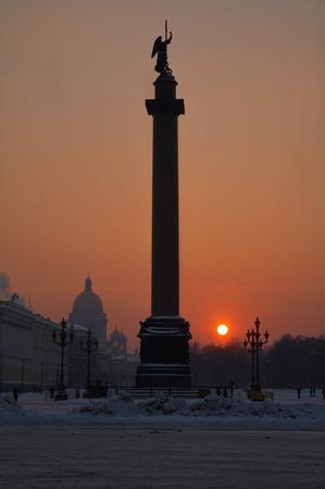Alexandrine column  Palace square  Saint-Petersburg  Russia Stock Photo - 24263615