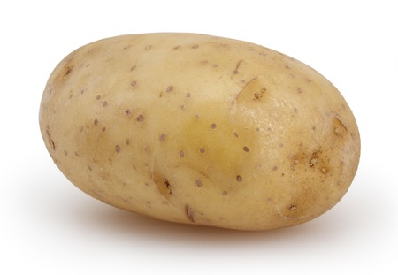 spud: Potato isolated on white background with clipping path