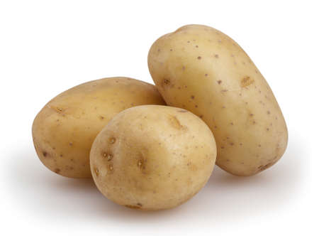 spud: Potatoes isolated on white background with clipping path