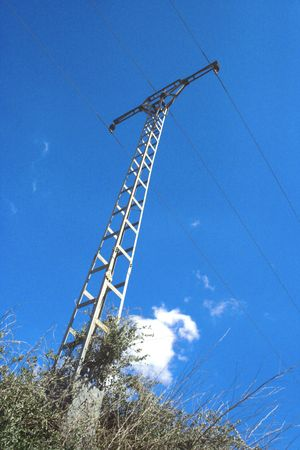 new steel electricity tower Stock Photo