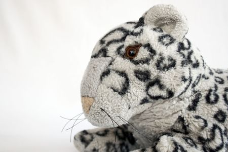 close up of a toy panther