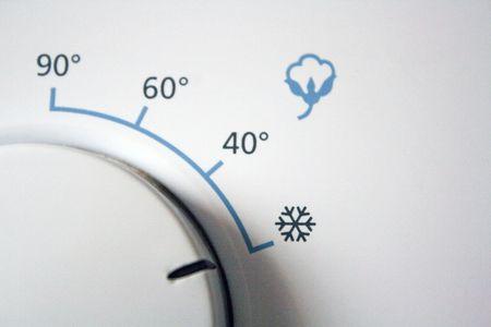 detail of a washingmachine knob