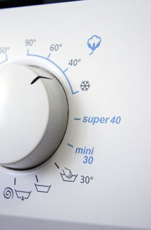 program knob of a washing-machine vertical Stock Photo