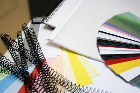 binding materials Stock Photo
