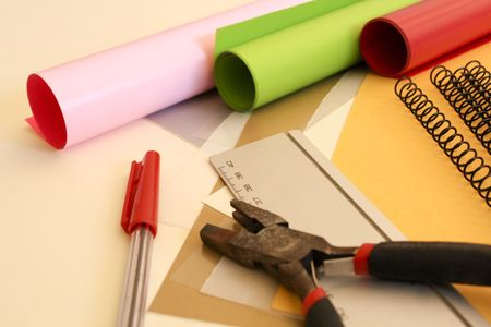 a colourful selection of  creative necessaries