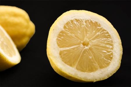 two fresh cut lemons
