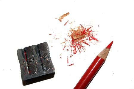 neccessary: red pencil with sharpener