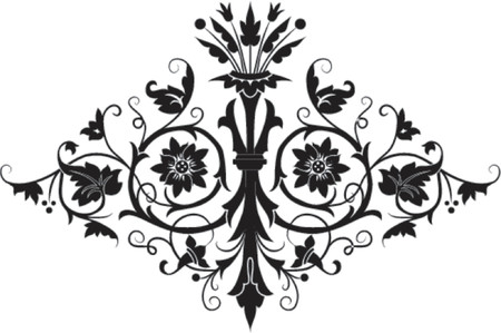 Element for design, flower, vector illustration Illustration