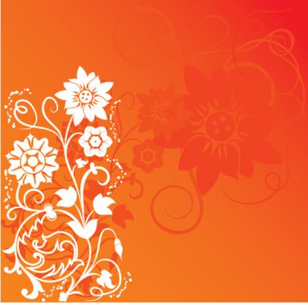 liane: Background flower, elements for design, vector illustration.