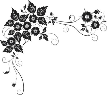 Element for design, flower VECTOR illustration