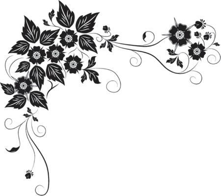 Element for design, flower VECTOR illustration