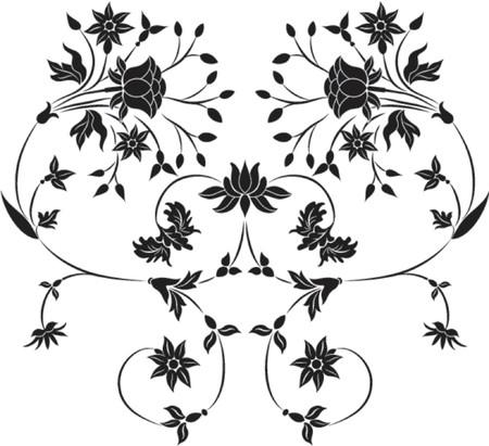 liane: Element for design, flower VECTOR illustration