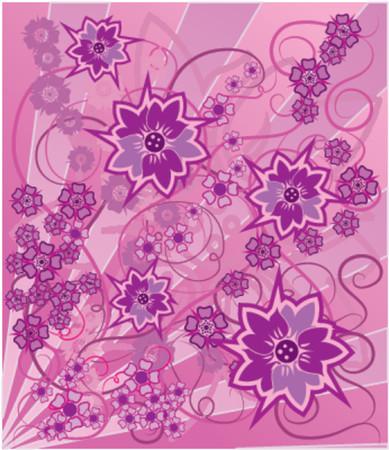 liane: Background flower, elements for design, VECTOR illustration