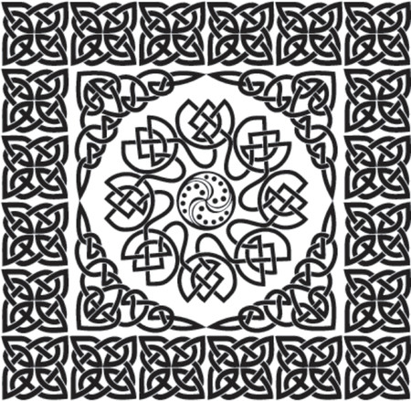 celtic background: Celtic ornament, VECTOR illustration Illustration