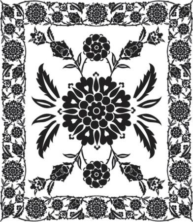 dingbat: Flower frame, VECTOR illustration Illustration