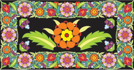 liane: Flower frame, vector illustration Illustration