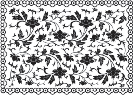 Background flower and frame, vector illustration