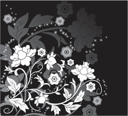 Background flower, elements for design, vector illustration Illustration