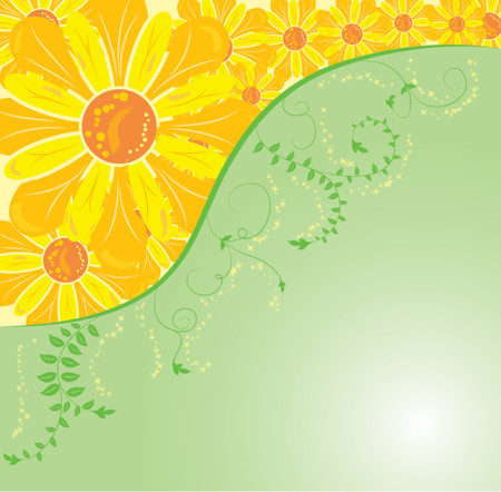 liane: Background flower, elements for design, vector illustration Illustration