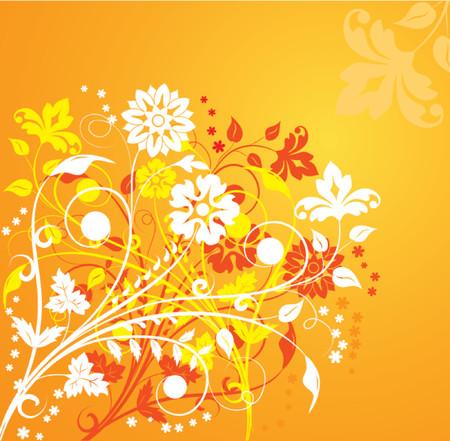 dingbat: Background flower, elements for design, illustration