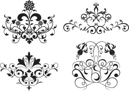 liane: Collect element for design, set flower, vector illustration