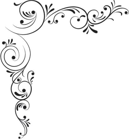 Element for design, corner flower, vector illustration Stock Vector - 528722