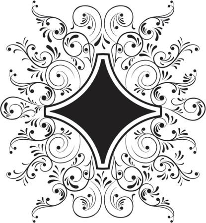 liane: Element for design, frame flower, vector illustration