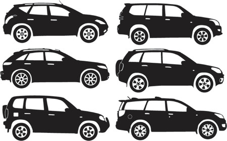 Silhouette cars, vector illustration Stock Vector - 528711