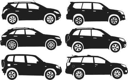 Silhouette cars, vector illustration Stock Vector - 528711