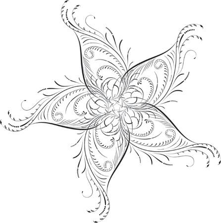 Element for design, corner flower, vector illustration