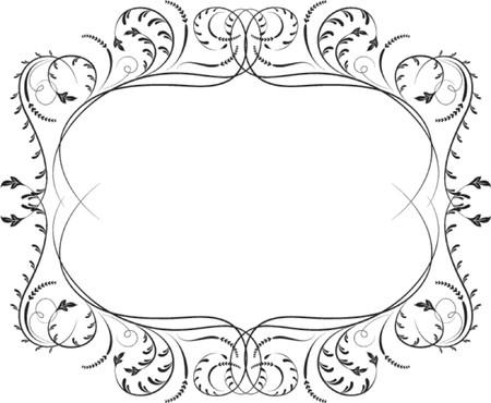 crests: Elemento per la progettazione, angolo fiore, illustrazione vettoriale  Vettoriali