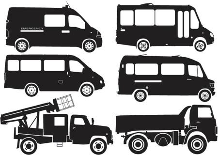 siloette: Silhouette cars, vector illustration