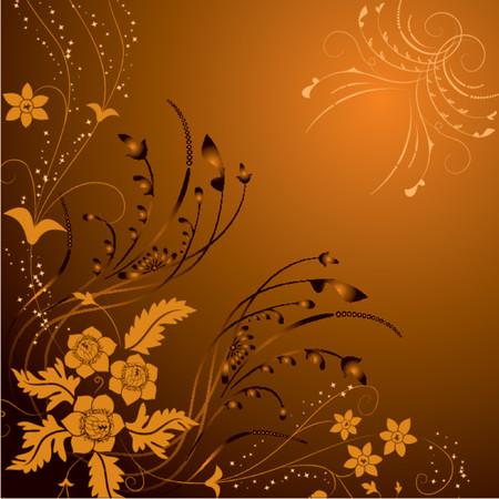 dingbat: Floral background, elements for design, vector illustration Illustration