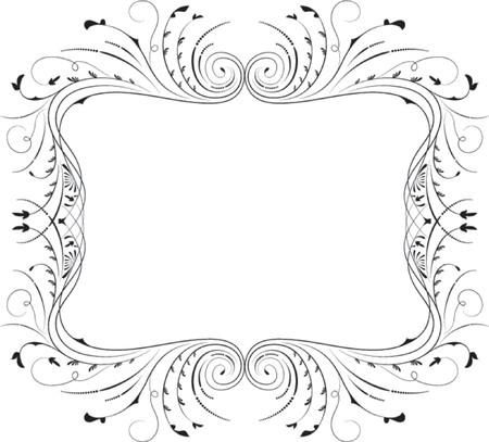 fancy border: Floral marco, el elemento de dise�o, ilustraci�n vectorial  Vectores