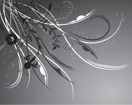 liane: Floral background, elements for design, vector illustration Illustration