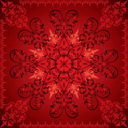 Abstract floral background, elements for design, vector illustration Illustration