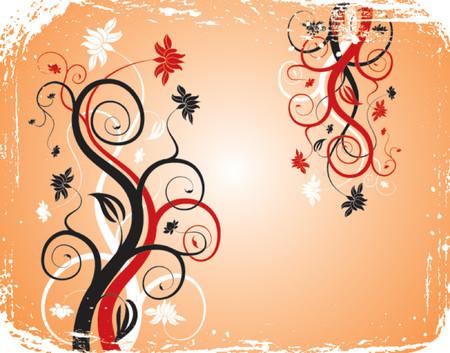 Grunge background flower, elements for design, vector illustration Stock Vector - 537920