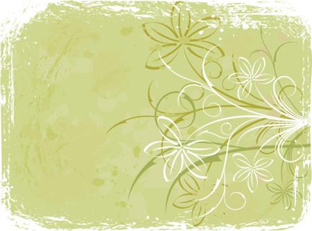 Grunge floral background, elements for design, vector illustration