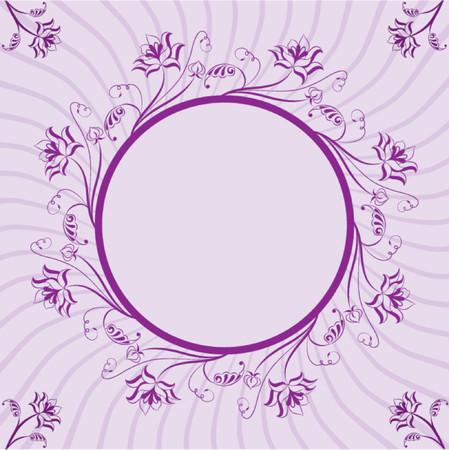 liane: Floral frame, element for design, vector illustration