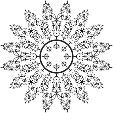 fancy floral wallpaper: Abstract floral frame, elements for design, vector illustration Illustration