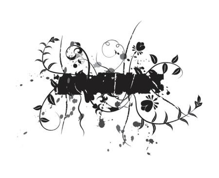 Abstract floral background, elements for design, vector illustration Ilustração