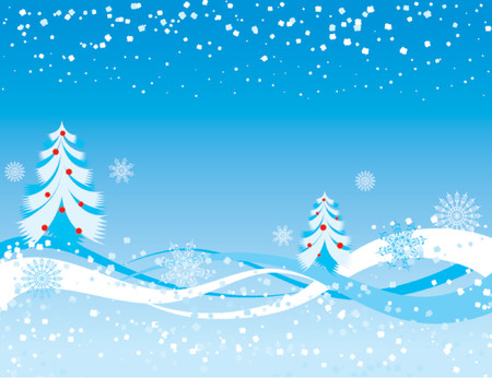 Snowflake background, vector illustration Ilustração