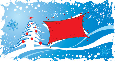 Christmas grunge background with frame, vector illustration Stock Vector - 654490