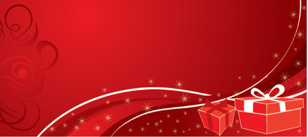 Christmas background with gifts, vector illustration Stock Vector - 654482