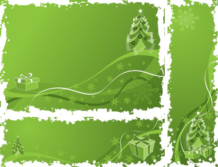 Christmas grunge frame, elements for design, vector illustration