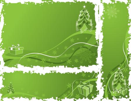 frieren: Weihnachten grunge frame, Elemente f�r das Design, Vektor-Illustration