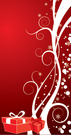 Christmas background with gifts, vector illustration Stock Vector - 654470