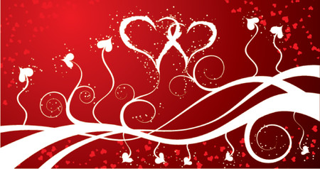Valentines abstract background with hearts, vector illustration Stock Vector - 649382