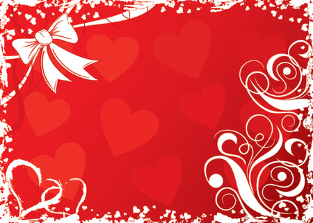 Valentines abstract background with hearts, vector illustration Vector
