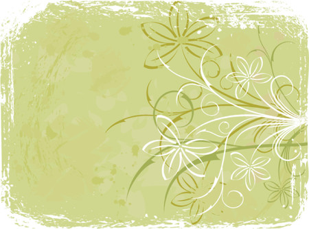 liane: Grunge floral background, elements for design, vector illustration